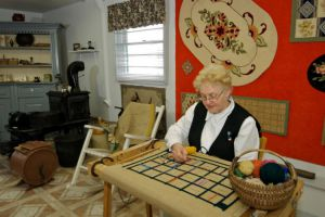 Rug hooking demonstration