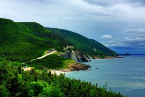 World famous scenic drive the Cabot Trail